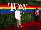 Ain't Too Proud Tony nominee Ephraim Sykes arrives on the the red carpet.