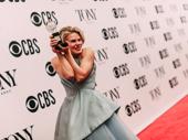Celia Keenan-Bolger hugs her first Tony Award.