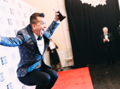 Choreographer Sergio Trujillo jumps for joy after winning his first Tony for Ain't Too Proud.