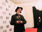The Ferryman playwright Jez Butterworth with his Tony Award for Best Play.