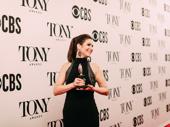Stephanie J. Block holds her first Tony Award.