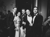 Torch Song's Ward Horton, Roxanna Hope Radja, Michael Urie, producer Richie Jackson and Michael Hsu Rosen get together for a photo.