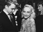 Beetlejuice star Sophia Anne Caruso giggles with The Ferryman's Jack DiFalco.