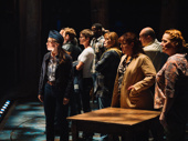 Welcome to the rock! The company of Come From Away takes in the crowd.