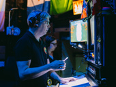 Stage manager Gary Mickelson makes sure all systems are go backstage.