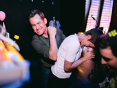 Chad Kimball and Jenn Colella get silly between scenes.
