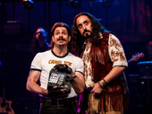 Mitchell Jarvis as Lonny and Matt Ban as Dennis in Rock of Ages.