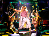 P.J. Griffith as Stacee Jaxx and the cast of Rock of Ages.