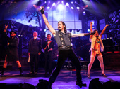 Mitchell Jarvis as Lonny and the cast of Rock of Ages.