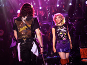 CJ Eldred as Drew and Kirsten Scott as Sherrie in Rock of Ages.