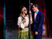 Tiffany Engen as Regina and Dane Biren as Franz in Rock of Ages.