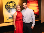 The Lion King's Rosie Lani Fiedelman with former In the Heights co-star Javier Muñoz.