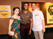 The Lion King's L. Steven Taylor, who plays Mufasa, with partner Holly Ann Butler and son Steven Taylor Jr.