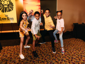 The Lion King cubs Suri Marrero, Haven Alexander & Jesus Del Orden and Aliya Ramey.