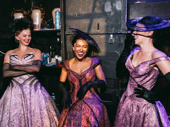 Ensemble members Leslie Donna Flesner, Shina Ann Morris and Katerina Papacostas joke around offstage.