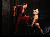 Ricky Rojas as Santiago and Robyn Hurder as Nini in Moulin Rouge!