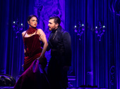 Karen Olivo as Satine and Tam Mutu as The Duke in Moulin Rouge!