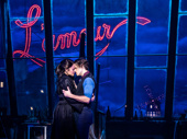 Karen Olivo as Satine and Aaron Tveit as Christian in Moulin Rouge!