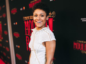 West Side Story film star Ariana DeBose is all smiles.