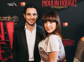 Designer Zac Posen and Broadway.com Audience Choice Award winner Jessica Vosk get together.