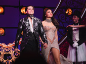 Moulin Rouge! stars Aaron Tveit and Karen Olivo take their opening night curtain call.