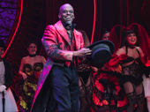 The talented Sahr Ngaujah is all smiles during his opening night curtain call at Moulin Rouge!