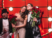 Moulin Rouge! stars Karen Olivo and Aaron Tveit take it all in.