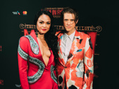 Party time! Moulin Rouge! stars Karen Olivo and Aaron Tveit are ready to celebrate at the Hammerstein Ballroom.