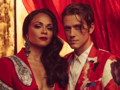 Leading couple Karen Olivo and Aaron Tveit look like royalty.