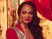 Lady in rouge! Karen Olivo leads the company as Satine.