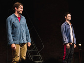 Sea Wall/A Life stars Jake Gyllenhaal and Tom Sturridge stand in the spotlight.