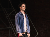 Sea Wall/A Life star Tom Sturridge takes his opening night curtain call.