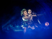 Andrew Polec as Strat and Christina Bennington as Raven in Bat Out of Hell.