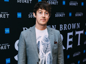 Tony winner Alex Sharp arrives.