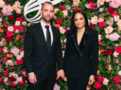 Moulin Rouge! star Karen Olivo spends date night with husband James Uphoff at the American Theatre Wing gala.