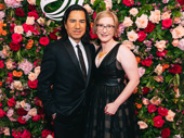 The American Theatre Wing's Executive Director Heather Hitchens hits the red carpet with her husband Felix Cisneros III.