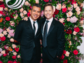 Ain't Too Proud's Tony-winning choreographer Sergio Trujillo and husband Jack Noseworthy beam on the red carpet.