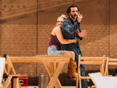 She cain't say no! Ali Stroker embraces Will Brill onstage.