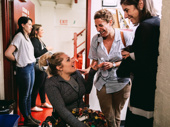 Oklahoma! Tony winner Ali Stroker catches up with the revival's producer Eva Price before the show.