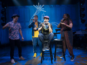 Lin-Manuel Miranda and the cast of Freestyle Love Supreme.