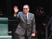 The Great Society star Brian Cox takes his opening night curtain call.