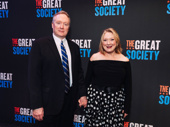 Two-time Tony nominee Kristine Nielsen attends opening night of The Great Society with her husband Brent Langdon.