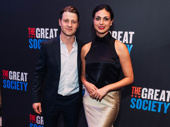 Actor Ben McKenize and Morena Baccarin attend opening night of The Great Society.