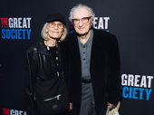 Theater couple Margery Gray and Sheldon Harnick enjoy opening night of The Great Society.