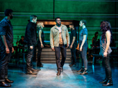 Joshua Henry and the cast of The Wrong Man.