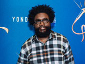 Questlove is on the scene for opening night of Freestyle Love Supreme.