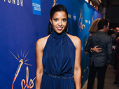 Hamilton Tony winner Renée Elise Goldsberry steps out for opening night of Freestyle Love Supreme.
