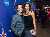 Hamilton's Tony-winning choreographer Andy Blankenbuehler poses for a photo with his wife Elly.