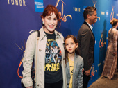 Stage and screen star Molly Ringwald enjoys opening night of Freestyle Love Supreme with her daughter Adele Georgiana Gianopoulos.