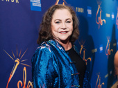 Two-time Tony nominee Kathleen Turner is all smiles for opening night of Freestyle Love Supreme.